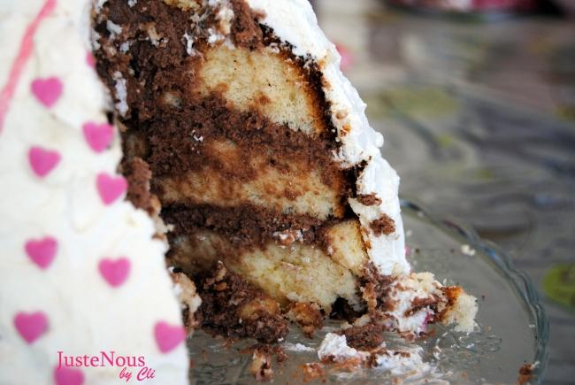 interieur gâteau